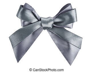 gray ribbon bow like a gift
