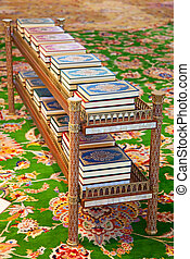 Quran - Holy Quran books in the mosque