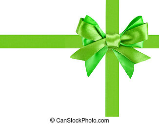 green ribbon bow like a gift