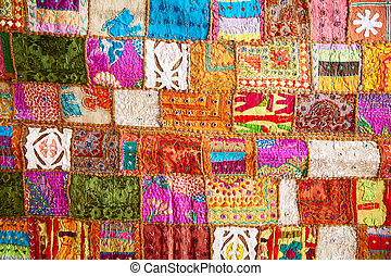 Crazy quilt - Colorful crazy quilt on the arabian market
