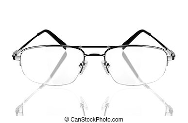 modern glasses on the white