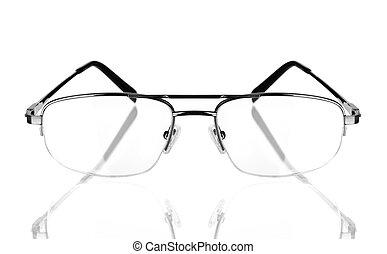 modern glasses on the white