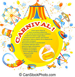 Amusement park design - Amusement entertainment carnival...