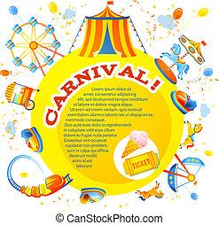 Amusement park design - Amusement entertainment carnival...
