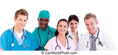 retrato, medicos