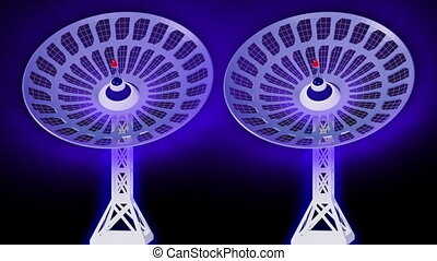 3d Satellite dishes in motion