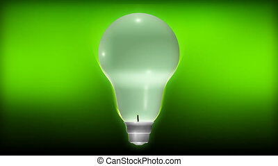 Plant Growing from a light Bulb - 3d Plant Growing inside a...