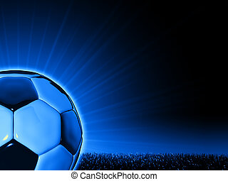 Soccerball close up - Close up of a soccerball on a...