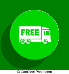 free delivery - modern web flat icon