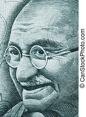 Gandhi - Mahatma Gandhi portrait on rupee note