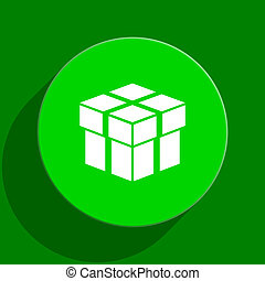 box green flat icon - modern web flat icon