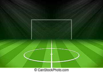 Soccer Background with Gridiron