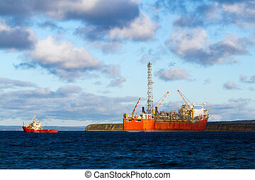 Oil and Gas - A FPSO oil production vessel.