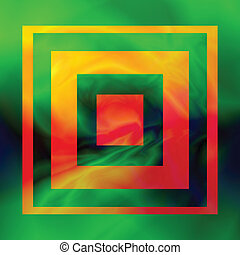 abstract frame - colorful illustration with abstract frame...