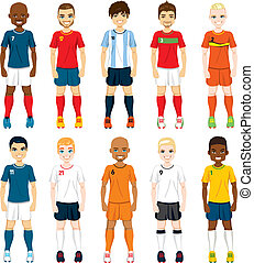 National Team Soccer Players - Collection set of soccer...