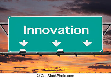 Freeway to Innovation Road Sign