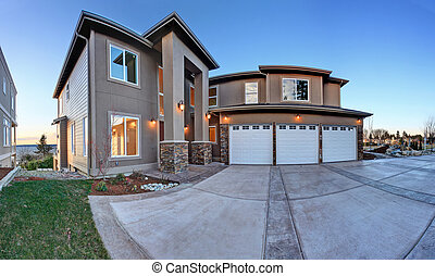 Luxury big house with high column porch - Luxury house...