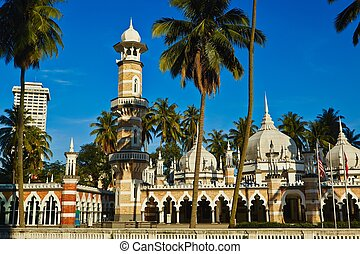 Kuala Lumpur - Mosque Masjid Jamek in Kuala Lumpur, Malaysia...