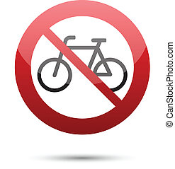 Do not ride bicycle