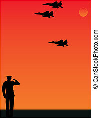I salute thee The Missing man formation - As the sun sets, a...