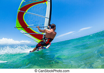 Windsurfing, Fun in the ocean, Extreme Sport