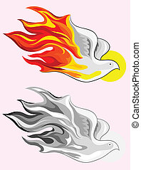 Holy spirit fire art vector picture