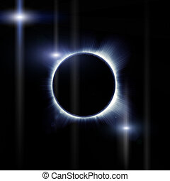 eclipse of the sun on the black, used for the background...