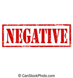 Negative-stamp - Grunge rubber stamp with text...