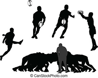rugby collection - vector - illustration of rugby collection...