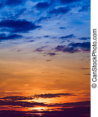 sunrise with clouds. Sunset Sky Background