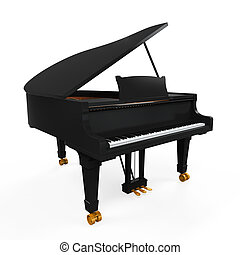 Grand Piano Isolated - Grand Piano isolated on white...