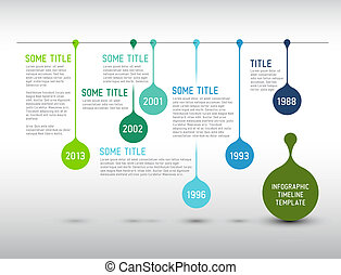Colorful Infographic timeline report template with drops -...