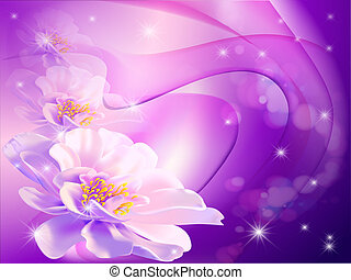beautiful abstract background with flowers