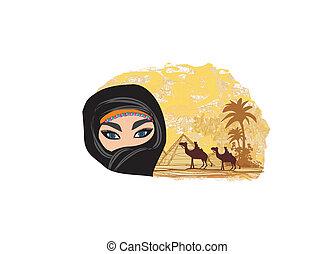 Arabian woman in the desert