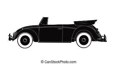 convertible car from fifties - fifties popular car