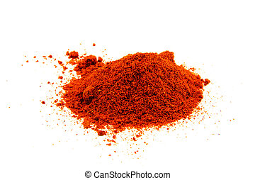 Red pepper spice isolated on white background