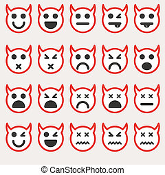 Set of different emoticons vector