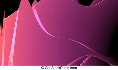 Abstract pink light curve,satin ribbon & soft silk veils,flowing digital wave b