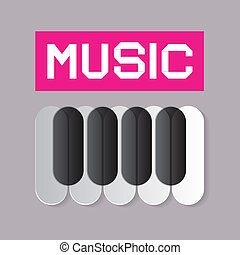 Abstract Music Theme with Piano Keyboard