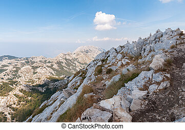 Top of the Biokovo Mountains - Stack of rocks on the top of...
