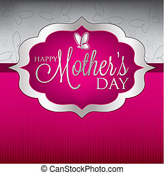 Elegant Mothers Day card in vector format