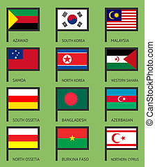 Flags flat set-14 - Flags of the world, flat vector...