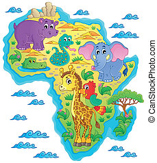Africa map theme image 1 - eps10 vector illustration