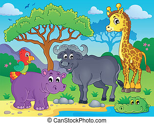 African fauna theme image 1 - eps10 vector illustration