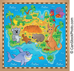 Australian map theme image 2 - eps10 vector illustration