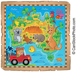 Australian map theme image 4 - eps10 vector illustration.