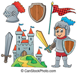 Knight theme collection 1 - eps10 vector illustration