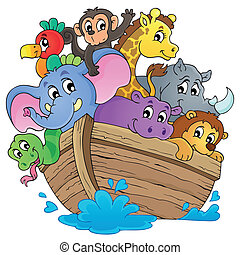 Noahs ark theme image 1 - eps10 vector illustration.