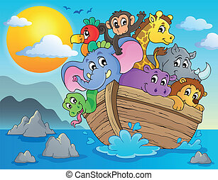 Noahs ark theme image 2 - eps10 vector illustration