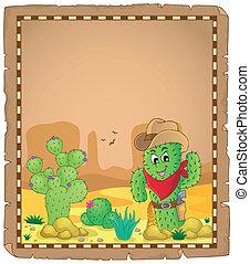 Parchment with cactus theme 1